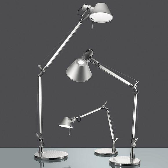 Tolomeo lampe de table Artemide est conçue pour une direction de lumière entièrement réglable. Créée en 1987 elle est devenue une icône de design.
