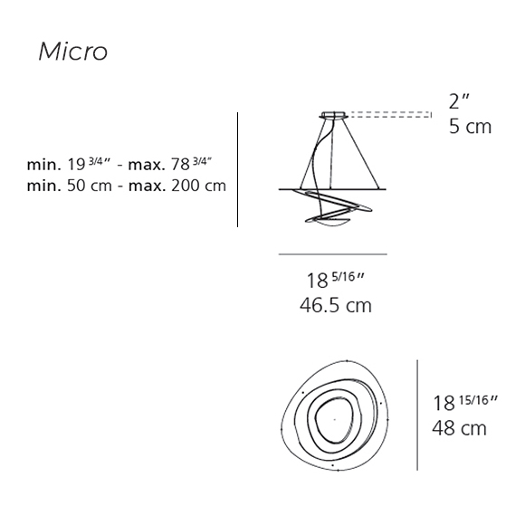 Pirce Suspension Micro Artemide Lighting Specs