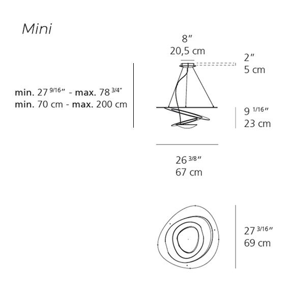 Pirce Suspension Mini Artemide Lighting Specs
