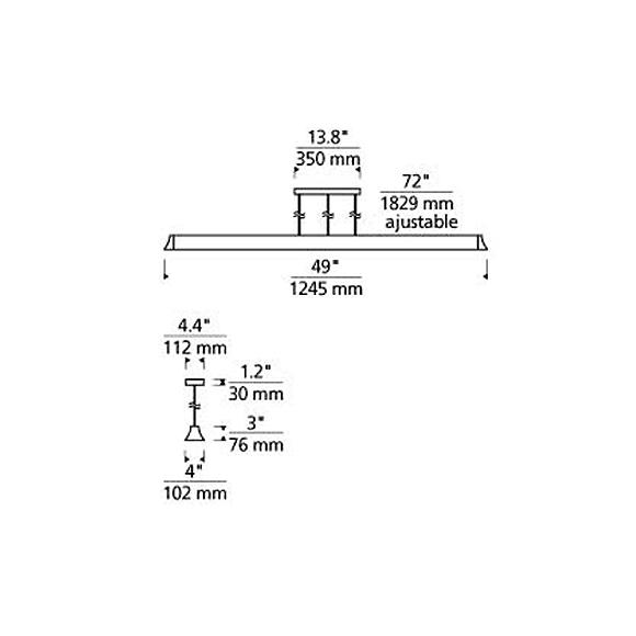 Zhane suspension linéaire DEL