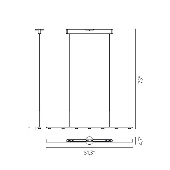 Aurora suspension lineaire dimensions