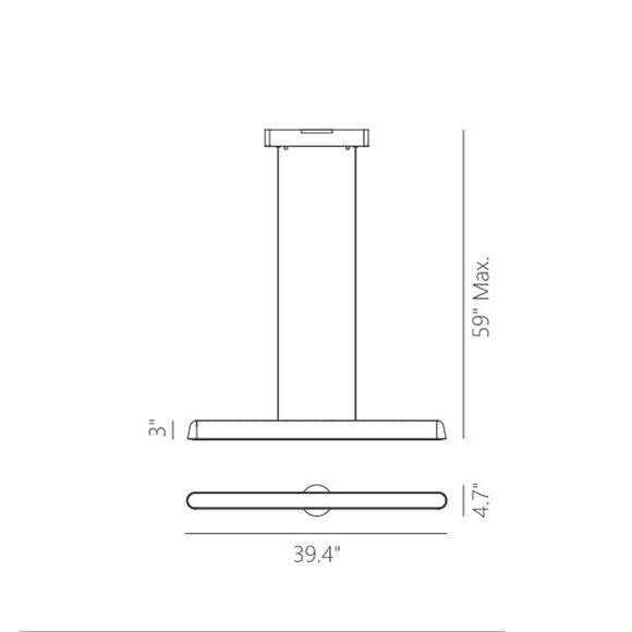 Enso suspension linéaire dimensions