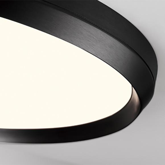 skylight plafonnier del fini noir satiné