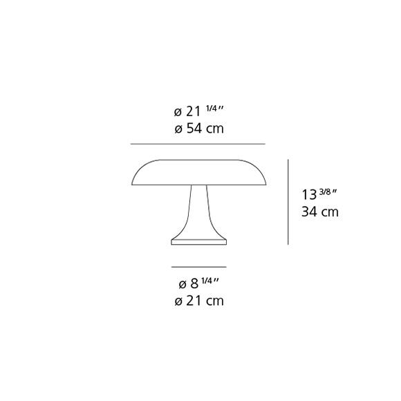 Nesso Artemide lampe de table dimensions
