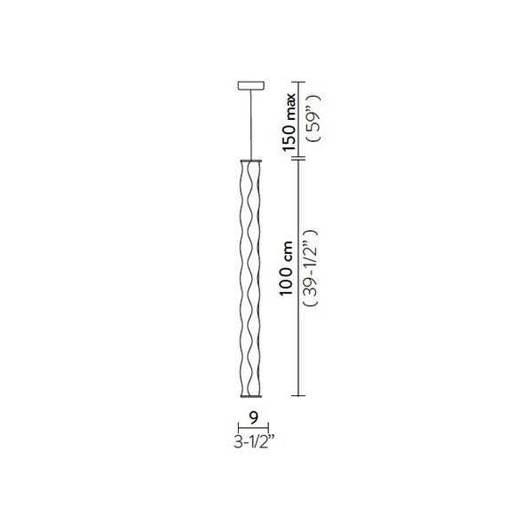 Hugo Vertical Suspension Slamp Lighting Spec